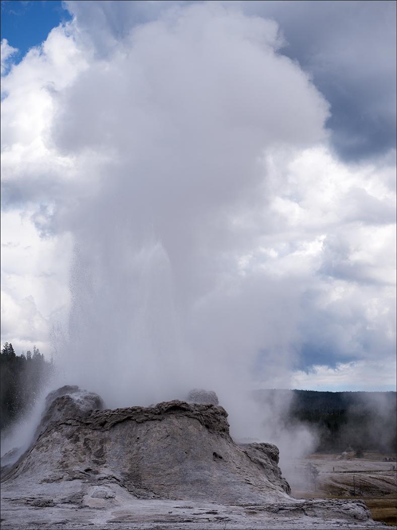 Geyser Erupting - Yellowstone